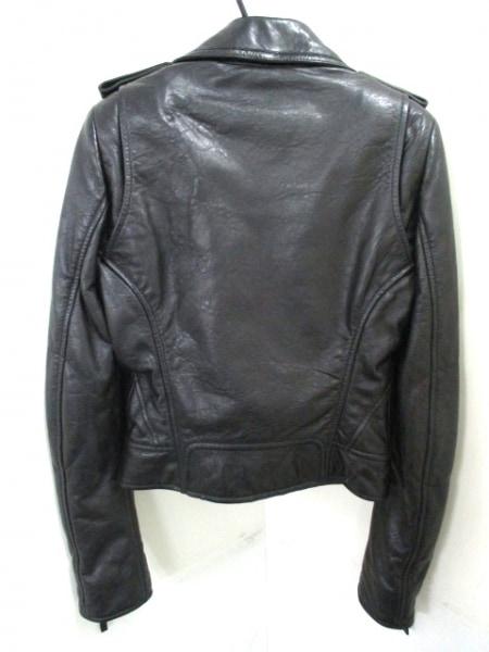 バレンシアガ ライダースジャケット サイズ38 M レディース美品  黒 2