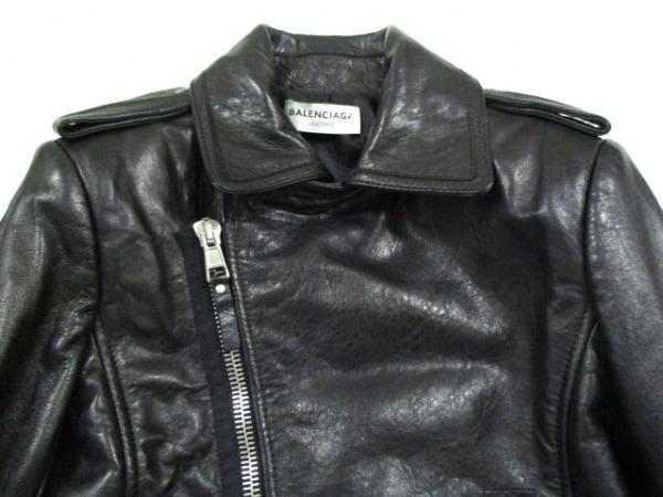 バレンシアガ ライダースジャケット サイズ38 M レディース美品  黒 7