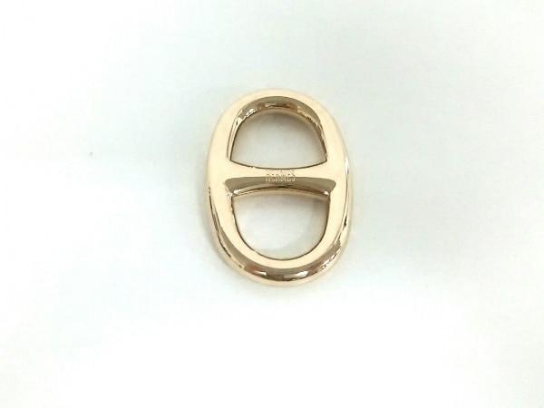 エルメス スカーフリング美品  シェーヌダンクル 金属素材 ゴールド 0