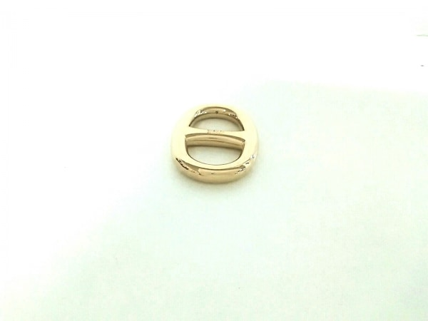 エルメス スカーフリング美品  シェーヌダンクル 金属素材 ゴールド 2