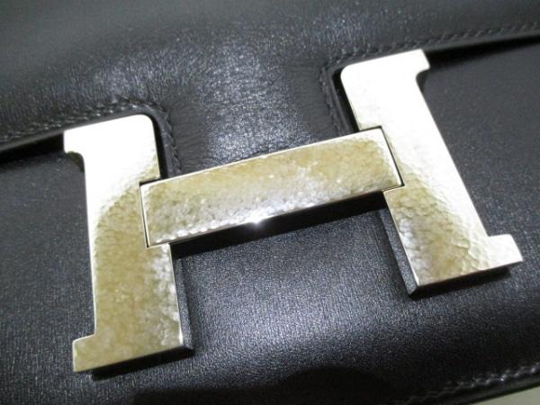 エルメス ショルダーバッグ美品  コンスタンス23 黒 ボックスカーフ 8
