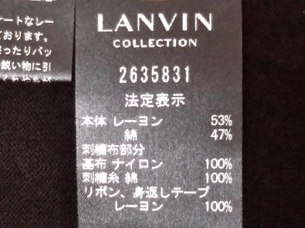 ランバンコレクション アンサンブル レディース 黒×白 5