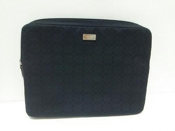 COACH(コーチ) バッグ美品  ミニシグネチャー柄 - 黒 ジャガード 0