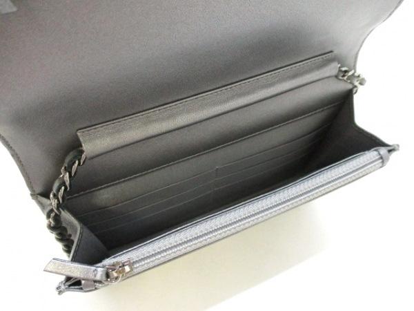 シャネル 財布美品  マトラッセ A80699 メタリックグレー ラムスキン 3