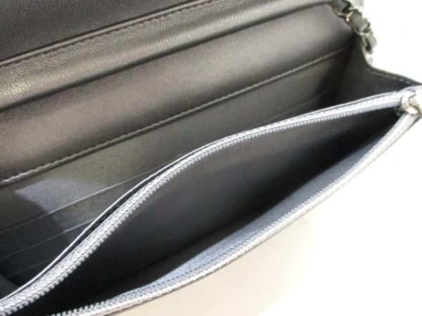 シャネル 財布美品  マトラッセ A80699 メタリックグレー ラムスキン 4