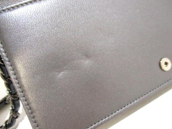 シャネル 財布美品  マトラッセ A80699 メタリックグレー ラムスキン 6