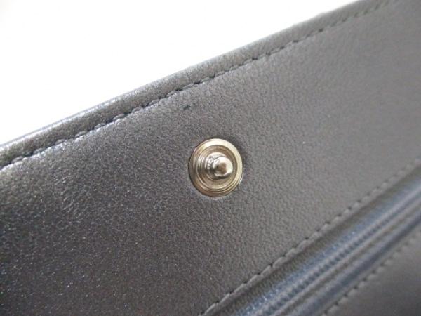 シャネル 財布美品  マトラッセ A80699 メタリックグレー ラムスキン 7