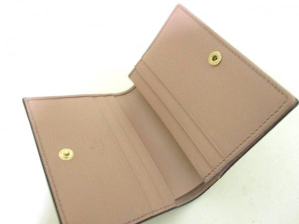 グッチ カードケース美品  シマライン/ボウイ 406924 ピンク レザー 3