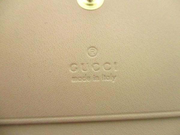 グッチ カードケース美品  シマライン/ボウイ 406924 ピンク レザー 4
