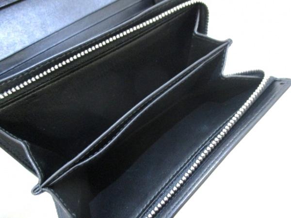 ロエベ 2つ折り財布 リピート 107.55.G96 黒 型押し加工 レザー 4