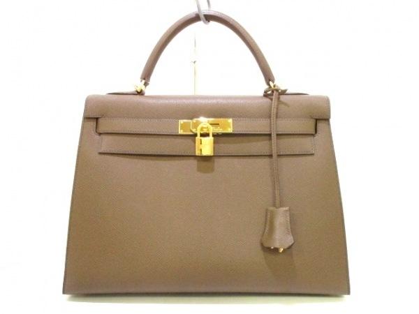 エルメス ハンドバッグ ケリー32 トープ 外縫い/ゴールド金具 0