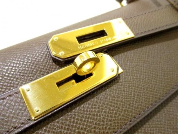エルメス ハンドバッグ ケリー32 トープ 外縫い/ゴールド金具 3