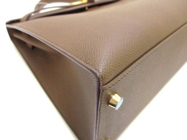 エルメス ハンドバッグ ケリー32 トープ 外縫い/ゴールド金具 6