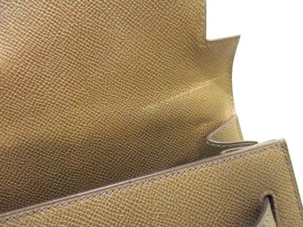 エルメス ハンドバッグ ケリー32 トープ 外縫い/ゴールド金具 8