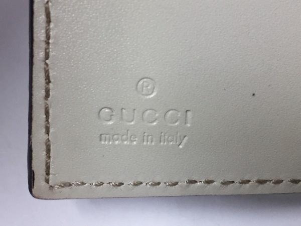 GUCCI(グッチ) パスケース シマライン 146231 ベージュ レザー 4