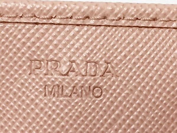 PRADA(プラダ) 名刺入れ美品  - 1M0881 ピンク レザー 4
