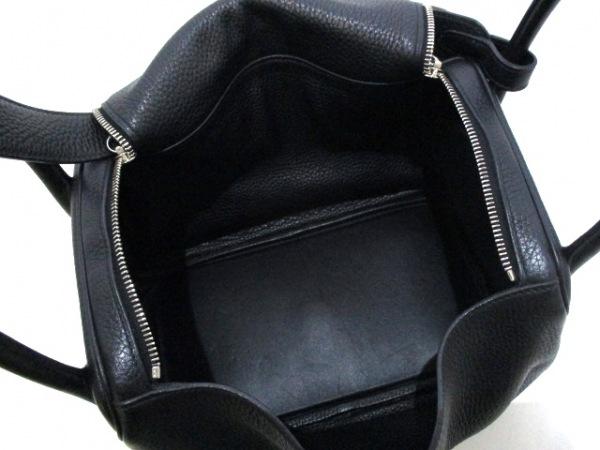 HERMES(エルメス) ハンドバッグ リンディ30 黒 トリヨンクレマンス 5