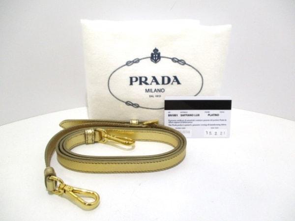 PRADA(プラダ) ハンドバッグ美品  - BN1801 ゴールド 9