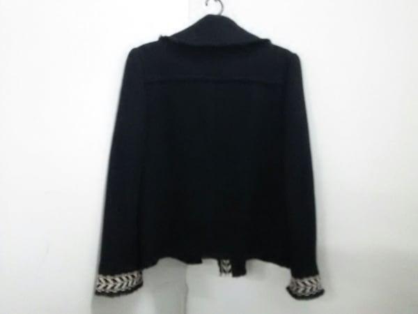 CHANEL(シャネル) ジャケット サイズ42 L レディース 黒×アイボリー 2