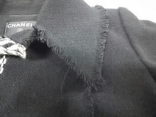 CHANEL(シャネル) ジャケット サイズ42 L レディース 黒×アイボリー 6