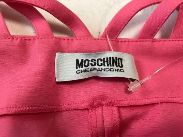 MOSCHINO(モスキーノ) ドレス レディース美品  ピンク リボン 4