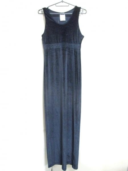 シャネル ワンピース サイズ38 M レディース 黒 ベロア/ロング丈 2