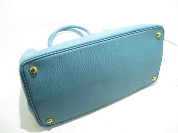 PRADA(プラダ) トートバッグ美品  ダブルバッグ 1BG756 ライトブルー 4