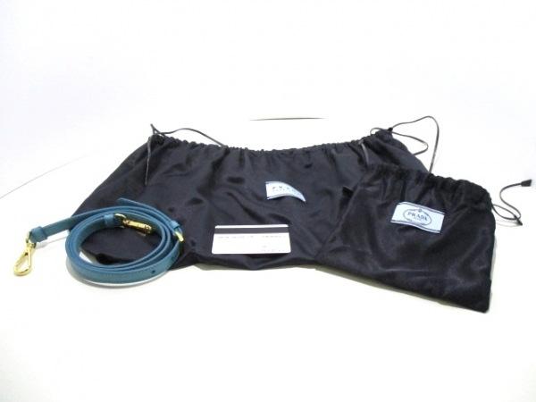 PRADA(プラダ) トートバッグ美品  ダブルバッグ 1BG756 ライトブルー 9