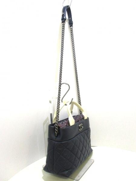 シャネル ショルダーバッグ美品  - A93270 ラムスキン×ツイード 2