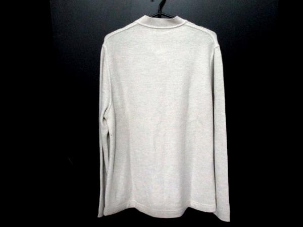 エルメス 長袖セーター サイズL L メンズ ライトグレー カシミヤ 2