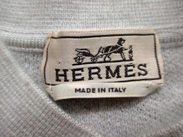 エルメス 長袖セーター サイズL L メンズ ライトグレー カシミヤ 3