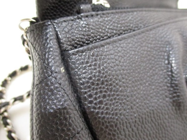 CHANEL(シャネル) 財布 ハーフムーン A40033 黒 キャビアスキン 7
