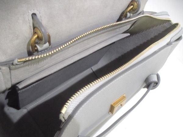 セリーヌ ハンドバッグ美品  ベルトバッグ スモール - グレー レザー 5
