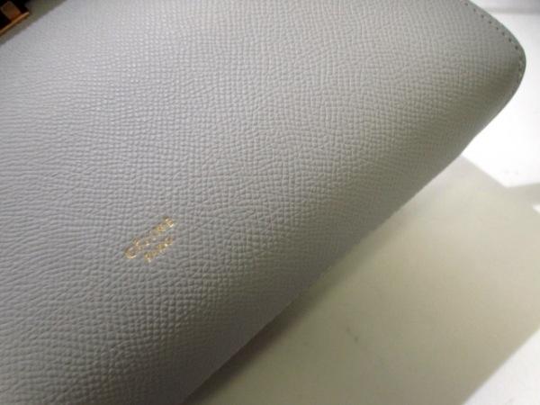 セリーヌ ハンドバッグ美品  ベルトバッグ スモール - グレー レザー 8