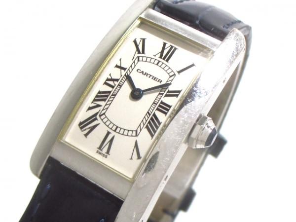 カルティエ 腕時計 タンクアメリカンSM W2601956 レディース 白 0