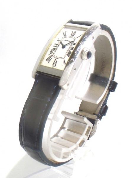 カルティエ 腕時計 タンクアメリカンSM W2601956 レディース 白 2