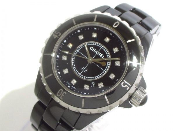 CHANEL(シャネル) 腕時計美品  J12 H1625 レディース 黒 0