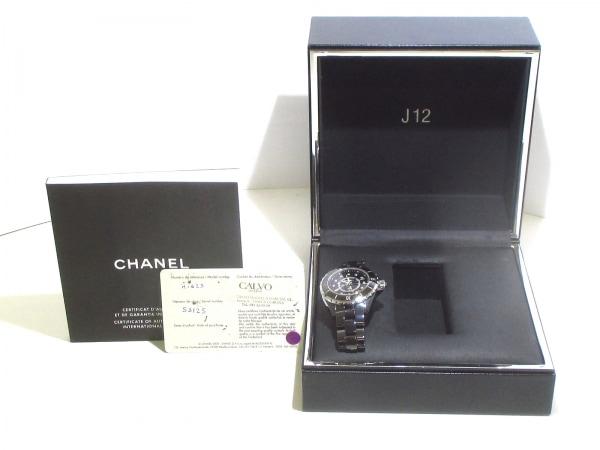 CHANEL(シャネル) 腕時計美品  J12 H1625 レディース 黒 9