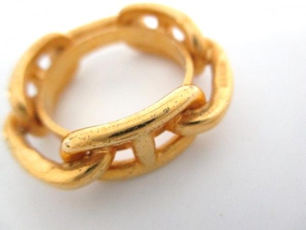 エルメス スカーフリング美品  シェーヌダンクル 金属素材 ゴールド 3