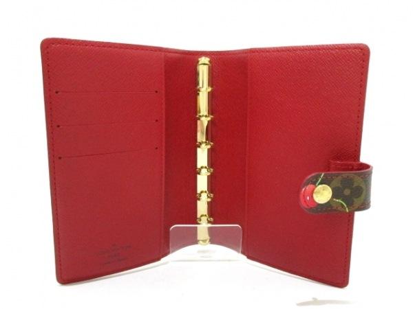 ルイヴィトン 手帳 モノグラムチェリー美品  アジェンダPM R21023 3