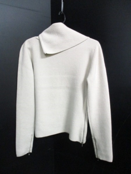 シャネル 長袖セーター サイズ42 L レディース美品  ベージュ 2