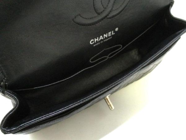 シャネル ショルダーバッグ マトラッセ A01112 黒 キャビアスキン 5