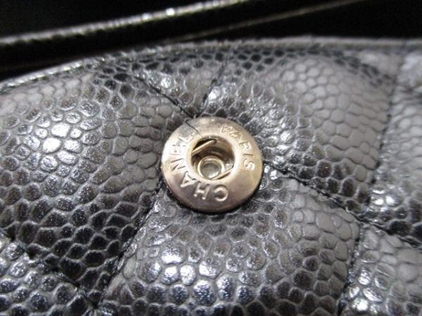 シャネル ショルダーバッグ マトラッセ A01112 黒 キャビアスキン 8