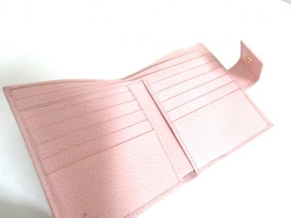 GUCCI(グッチ) Wホック財布美品  GGマーモント 456122 ピンク レザー 3
