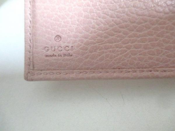 GUCCI(グッチ) Wホック財布美品  GGマーモント 456122 ピンク レザー 5