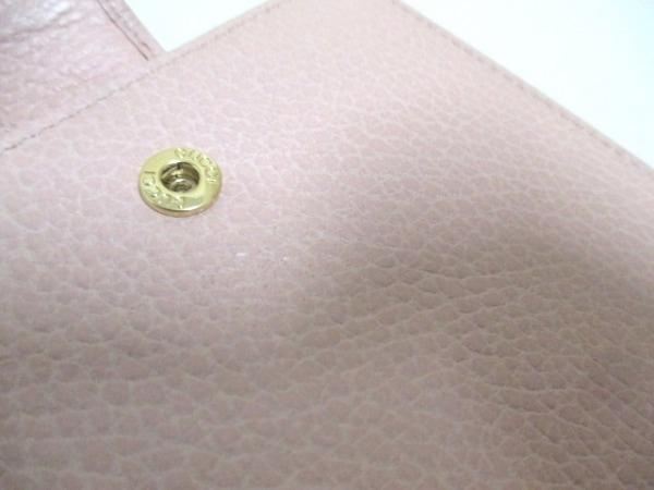 GUCCI(グッチ) Wホック財布美品  GGマーモント 456122 ピンク レザー 7