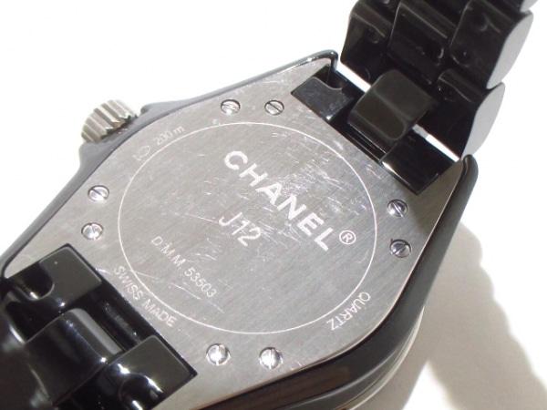 CHANEL(シャネル) 腕時計美品  J12 H1625 レディース 黒 7