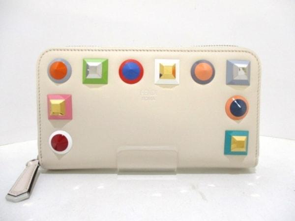 FENDI(フェンディ) 長財布美品  - 8M0299 アイボリー レザー 0