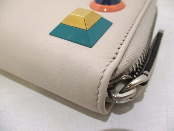 FENDI(フェンディ) 長財布美品  - 8M0299 アイボリー レザー 7