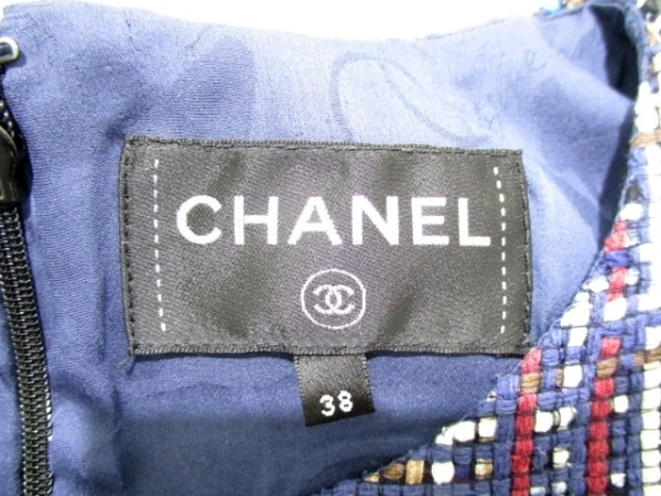 CHANEL(シャネル) ワンピース サイズ38 M レディース美品  ツイード 3